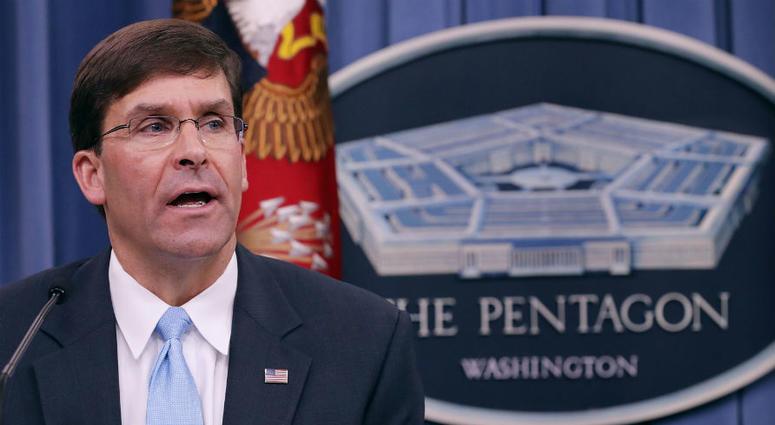 President Trump formally nominates Mark Esper to be Secretary of Defense.