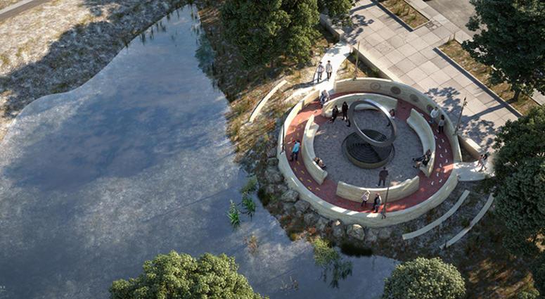 The National Native American Veterans Memorial, Warriors' Circle of Honor.