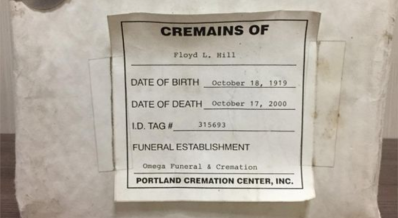 Unclaimed cremated remains
