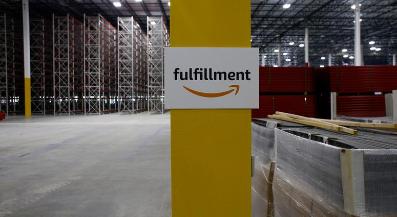 Amazon's fulfillment center during a media tour on Wednesday, July 26, 2017 in Livonia.