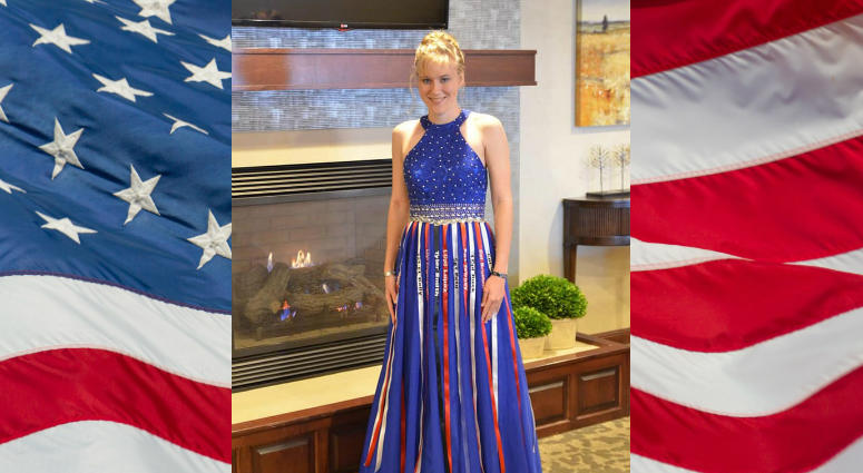 Aubrey Headon's prom dress remembering the fallen Marines of 3/5 was a viral sensation