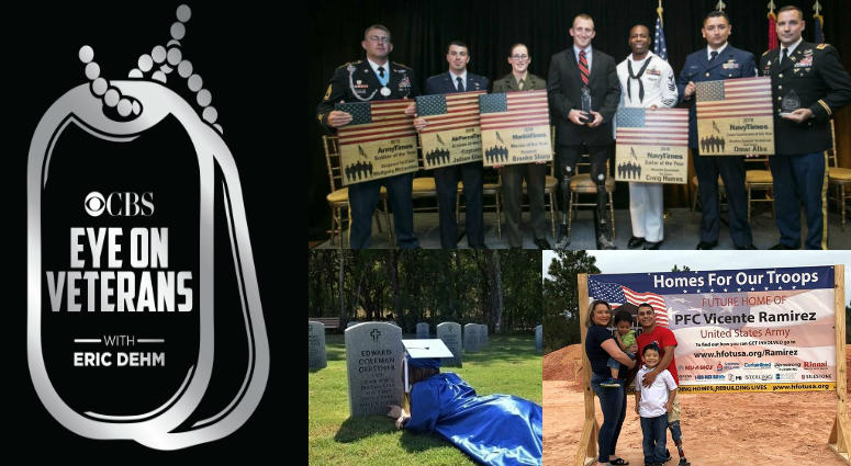 Military Times Service Members of the Year, Homes for our troops, Wounded Warrior Project, Children of Fallen Patriots