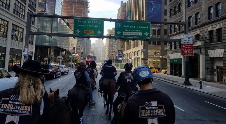 Trail To Zero ride through New York City from 2017