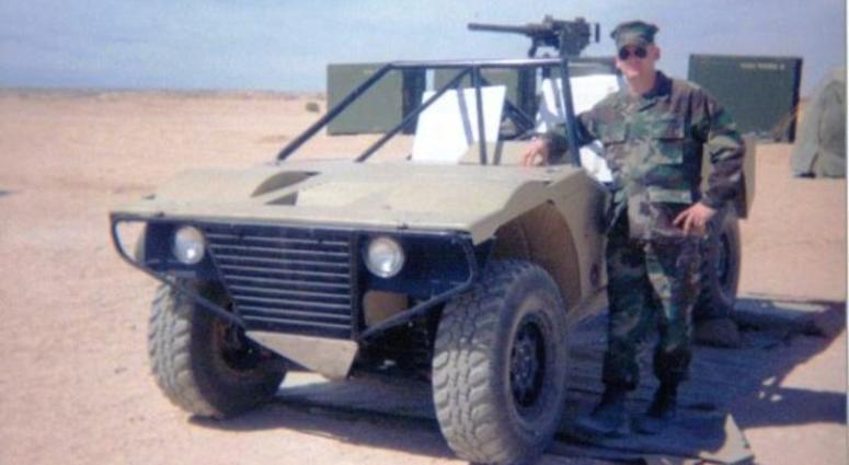 Marine Corps veteran Jake Messier training at 29 Palms, California.