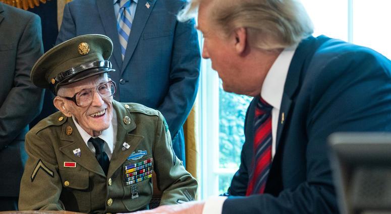 President Trump Celebrates World War Ii Veterans Birthday