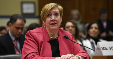 Deputy Assistant Secretary of Defense for Environment Maureen Sullivan at a House Oversight and Reform subcommitte hearing