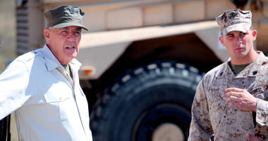 R. Lee Ermey, an actor and retired Marine, prepares to interview Marines at Marine Corps Air Station, Miramar, Calif.