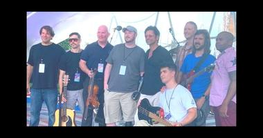 John Stamos and members of MusiCorps
