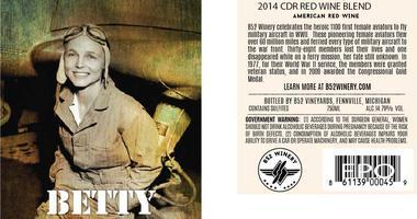 Betty Wine Label