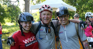 George W. Bush with bikers