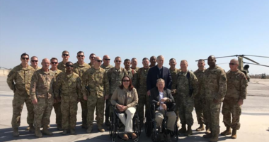 PHOTOS: Sen. Duckworth returns to Iraq for the first time since being shot down in 2004