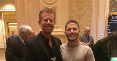 Scott Huesing and Medal of Honor Recipient Kyle Carpenter