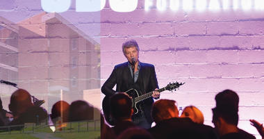 Jon Bon Jovi performs