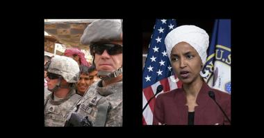 Congressional candidate and Army veteran Chris Kelly and Rep Ilhan Omar