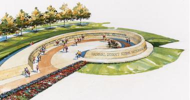 Artist drawing of proposed Desert Storm Memorial