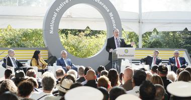 National Native American Veterans Memorial groundbreaking ceremony at the Smithsonian Museum of the American Indian
