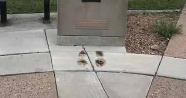 Bronze shoes New Mexico War Memorial