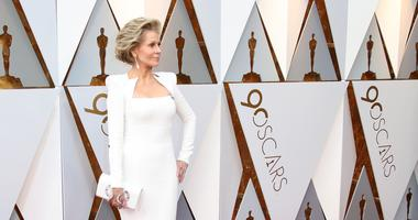 Jane Fonda arrives at the 90th Academy Awards at Dolby Theatre