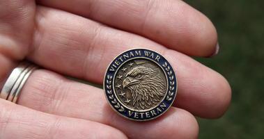 Vietam War commemoration pin