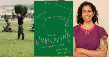 SWAN founder and Marine Corps vet Anuradha Bhagwati is the author of Unbecoming a memoir of dsiobedience