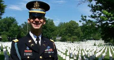 Sen. Tom Cotton during his tour with The Old Guard at Arlington National Cemetery