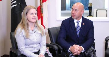 Army and Air Force vet Harmony Allen with Florida Congressman and Army veteran Brian Mast