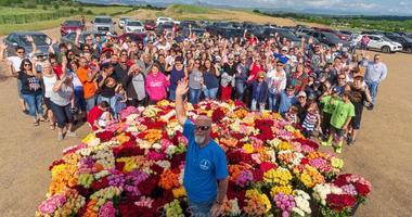 Memorial Day Flowers volunteers place flowers on the graves of veterans
