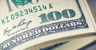 American money on table