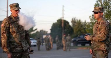 Soldier vaping