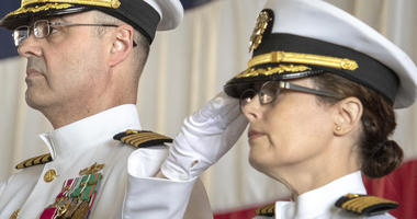 Change of command ceremony, PSNS, with Capt. Dianna Wolfson, incoming shipyard commander