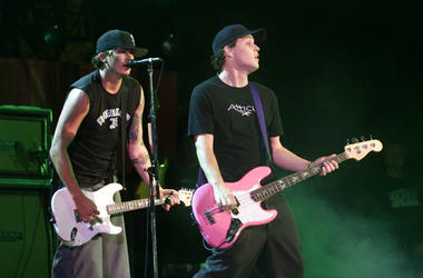 Blink 182 performs at the 9th Annual KROQ Weenie Roast