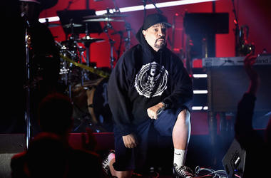 Recording artist Ice-T performs onstage at the Premiere Ceremony during the 60th Annual GRAMMY Awards at Madison Square Garden on January 28, 2018 in New York City