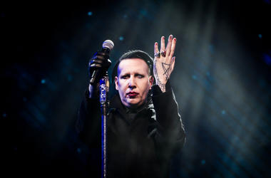Marilyn Manson performs onstage with X Japan during the 2018 Coachella Valley Music And Arts Festival