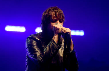 Julian Casablancas of The Strokes performs at the City of Angels benefit concert at the Wiltern on July 25, 2016