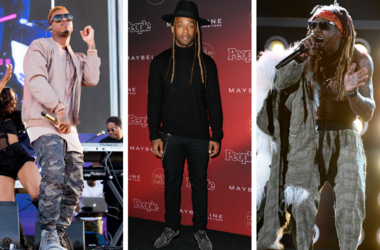 """Jeremih (Jeremy Felton) at Daytime Village on September 24, 2016, in Las Vegas, Nevada. / Ty Dolla Sign. 2017 People's """"One's to Watch"""" Event held at NeueHouse Hollywood /  Lil Wayne performs on the 2017 Billboard Music Awards at the T-Mobile Arena"""