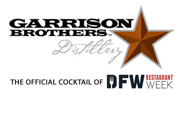 Garrison Brothers Distillery; Official Cocktail DFW Restaurant Week