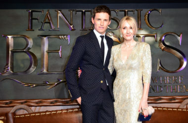 Eddie Redmayne and J. K. Rowling attending the Fantastic Beasts Premiere