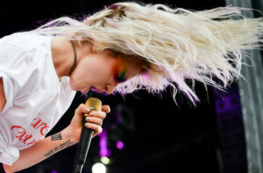 Paramore performs at the Bonnaroo Music and Arts Festival.
