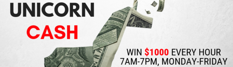 ZACH LOGAN FROM MEMPHIS WON $1,000 IN UNICORN CASH THIS WEEK!