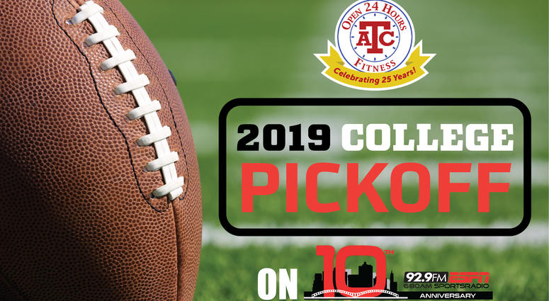 ENTER The 92.9 ATC Fitness College Football Pickoff