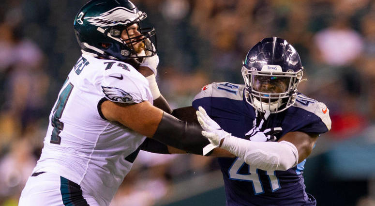 more photos c9397 e1ca0 Bills acquire OL Bates in trade with Eagles | ESPN Rochester ...