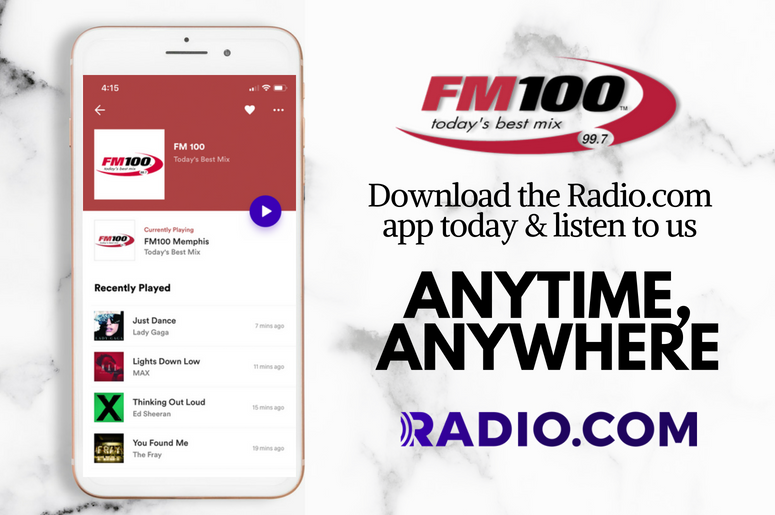 Download the RADIO COM app for free today | FM 100 Memphis