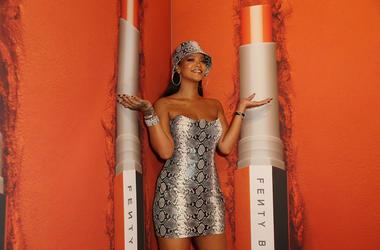 Rihanna attends the Fenty Beauty by Rihanna Anniversary Event at Overseas Passenger Terminal on October 3, 2018 in Sydney, Australia