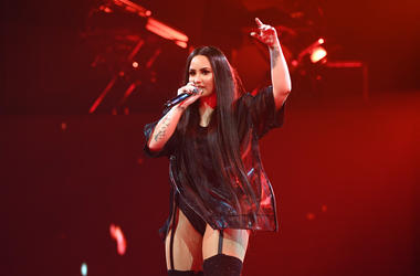 Demi Lovato performs at American Airlines Arena