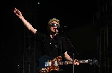 Alex Kapranos of Franz Ferdinand performs during the 2018 Shaky Knees Music Festival