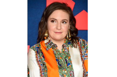 """ile photo shows actress Lena Dunham at the premiere of the final season of HBO's """"Veep"""" in New York. Dunham is celebrating one year of sobriety. Featuring a thumbs-up photo, the 32-year-old writes on Instagram Wednesday, April 10, that she has """"done a lot"""