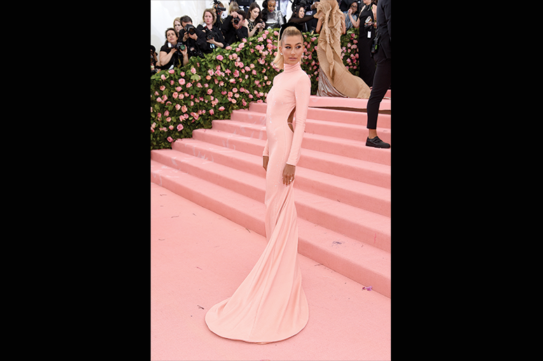 Hailey Bieber attends The 2019 Met Gala Celebrating Camp: Notes on Fashion at Metropolitan Museum of Art on May 06, 2019 in New York City. (Photo by Jamie McCarthy/Getty Images)