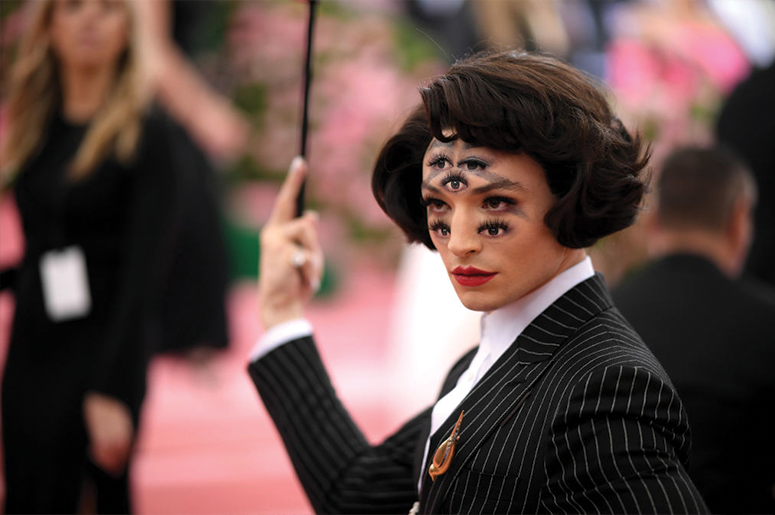 Ezra Miller attends The 2019 Met Gala Celebrating Camp: Notes on Fashion at Metropolitan Museum of Art on May 06, 2019 in New York City. (Photo by Neilson Barnard/Getty Images)