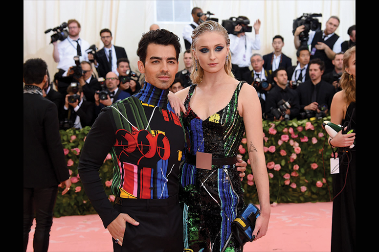 Joe Jonas and Sophie Turner attend The 2019 Met Gala Celebrating Camp: Notes on Fashion at Metropolitan Museum of Art on May 06, 2019 in New York City. (Photo by Jamie McCarthy/Getty Images)