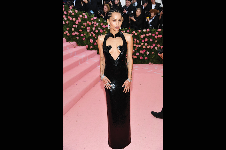 Zoe Kravitz attends The 2019 Met Gala Celebrating Camp: Notes on Fashion at Metropolitan Museum of Art on May 06, 2019 in New York City. (Photo by Dimitrios Kambouris/Getty Images for The Met Museum/Vogue)